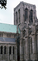 York: The Minster--Central Tower. Photo '87.