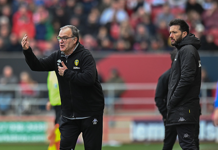 Leeds United manager Marcelo Bielsa <br /> <br /> Photographer David Horton/CameraSport<br /> <br /> The EFL Sky Bet Championship - Bristol City v Leeds United - Saturday 9th March 2019 - Ashton Gate Stadium - Bristol<br /> <br /> World Copyright © 2019 CameraSport. All rights reserved. 43 Linden Ave. Countesthorpe. Leicester. England. LE8 5PG - Tel: +44 (0) 116 277 4147 - admin@camerasport.com - www.camerasport.com
