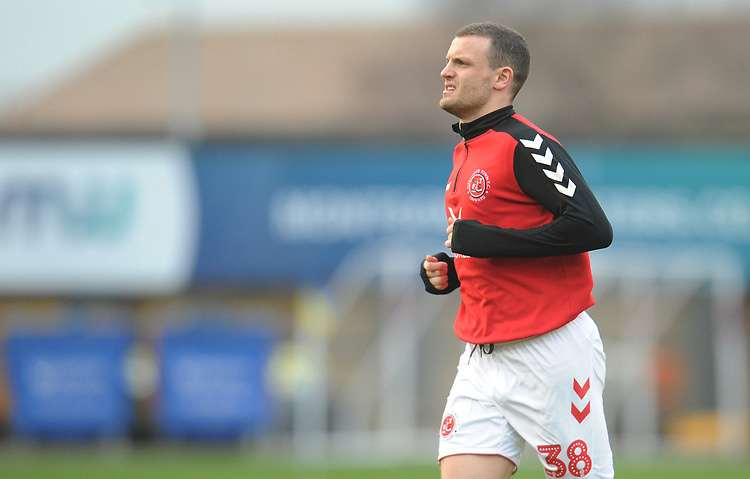 Fleetwood Town's James Wallace during the pre-match warm-up <br /> <br /> Photographer Kevin Barnes/CameraSport<br /> <br /> The EFL Sky Bet League One - Shrewsbury Town v Fleetwood Town - Tuesday 1st January 2019 - New Meadow - Shrewsbury<br /> <br /> World Copyright © 2019 CameraSport. All rights reserved. 43 Linden Ave. Countesthorpe. Leicester. England. LE8 5PG - Tel: +44 (0) 116 277 4147 - admin@camerasport.com - www.camerasport.com