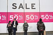 Topshop, January sales, Oxford Street, London.