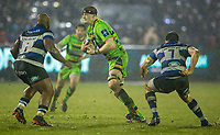 Northampton Saints' David Ribbans in action during todays match<br /> <br /> Photographer Bob Bradford/CameraSport<br /> <br /> Anglo-Welsh Cup Semi Final - Bath Rugby v  Northampton Saints - Friday 9th March 2018 - The Recreation Ground - Bath<br /> <br /> World Copyright &copy; 2018 CameraSport. All rights reserved. 43 Linden Ave. Countesthorpe. Leicester. England. LE8 5PG - Tel: +44 (0) 116 277 4147 - admin@camerasport.com - www.camerasport.com