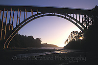 The Russian Gulch Bridge at Sunset, Mendocino California