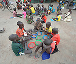 Children enjoy lunch in the Loreto Primary School in Rumbek, South Sudan. The Loreto Sisters began a secondary school for girls in 2008, with students from throughout the country, but soon after added a primary in response to local community demands.