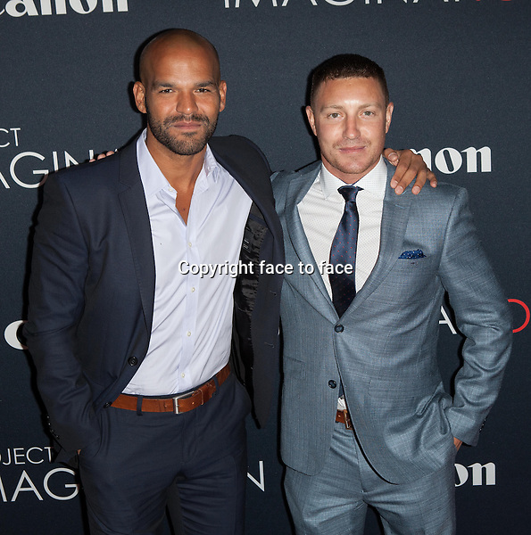 NEW YORK, NY - OCTOBER 24, 2013: Amaury Nolasco and Lane Garrison attend the Premiere Of Canon's Project Imaginat10n Film Festival at Alice Tully Hall on October 24, 2013 in New York City. <br /> Credit: MediaPunch/face to face<br /> - Germany, Austria, Switzerland, Eastern Europe, Australia, UK, USA, Taiwan, Singapore, China, Malaysia, Thailand, Sweden, Estonia, Latvia and Lithuania rights only -
