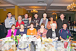 At the Dromid GAA Boston Tea Party held in the Waterville Lake Hotel on Friday night last were front l-r; Mary Sheehan, Eithna O'Riordan, Eileen O'Sullivan, Noreen Sugrue, Ann O'Shea, Mike Sheehan, back l-r; Thomas Curran, Brian O Ríordain, Gerald Sugrue, Olivia Kennedy, Kevin Courtney, Maura Murphy, June Collins & Sean Farley.