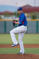 AZL Cubs 2 starting pitcher Allen Webster (78) delivers a pitch in a rehab assignment during an Arizona League game against the AZL White Sox at Sloan Park on July 13, 2018 in Mesa, Arizona. The AZL Cubs 2 defeated the AZL White Sox 6-4. (Zachary Lucy/Four Seam Images)