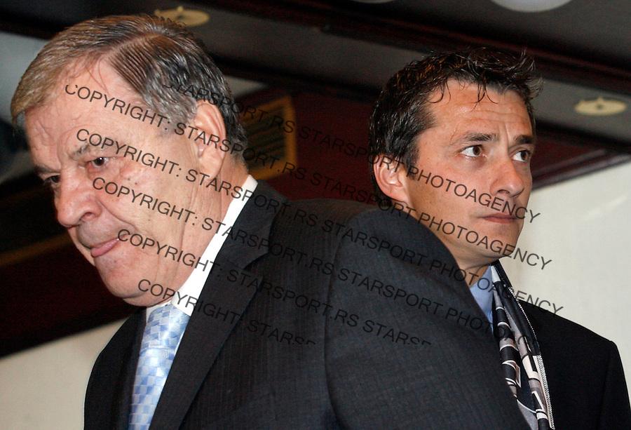 Fudbal, promocija novog trnera FK Partizan.head coach Slavisa Jokanovic, right and Tomislav Karadzic.Beograd, 28.12.2007..foto: Srdjan Stevanovic
