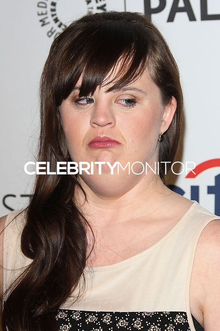 """HOLLYWOOD, LOS ANGELES, CA, USA - MARCH 28: Jamie Brewer at the 2014 PaleyFest - """"American Horror Story"""" held at the Dolby Theatre on March 28, 2014 in Hollywood, Los Angeles, California, United States. (Photo by Celebrity Monitor)"""