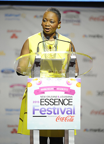 NEW ORLEANS, LA - JULY 3: Vanessa DeLuca, Editor-in-Chief of Essence at the press conference for the 2015 Essence Festival at the Ernest N. Morial Convention Center on July 3, 2015 in New Orleans, Louisiana. Credit: PGFM/MediaPunch