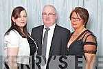 Pictured at the Solas na Coinnile Ball at the Earl of Desmond Hotel on Saturday, from left: Sarah Moriarty, Eugene Kenny and Caroline Kenny.