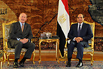 Egyptian President Abdel Fattah al-Sisi meets with Australian Governor-general Sir Peter Cosgrove, in Cairo, Egypt, on October 22, 2017. Photo by Egyptian President Office