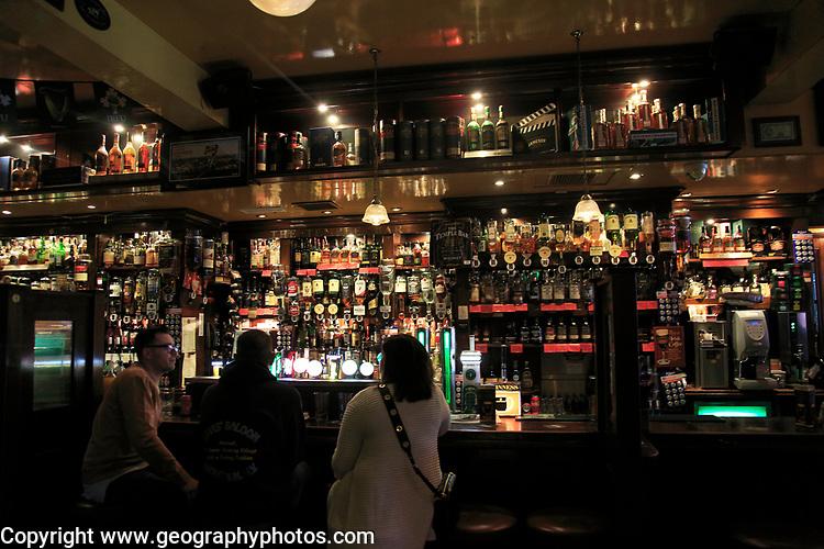 A bar inside the Temple Bar pub, Dublin city centre, Ireland, Republic of Ireland