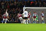 Tottenham's Nacer Chadli scores a goal to equalise - Aston Villa vs. Tottenham Hotspurs - Barclay's Premier League - Villa Park - Birmingham - 02/11/2014 Pic Philip Oldham/Sportimage