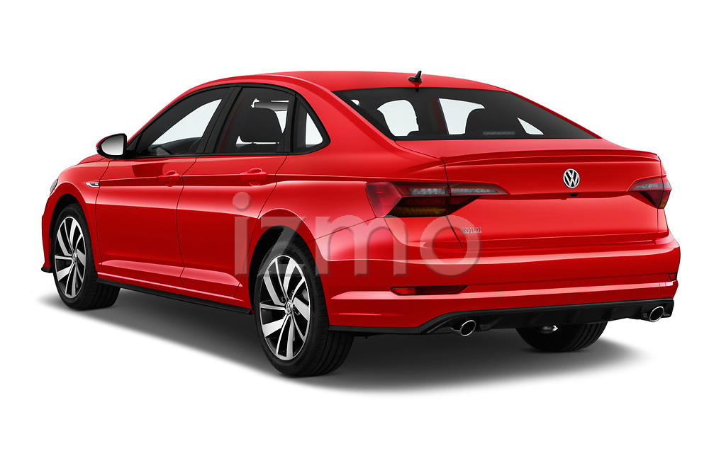 Car pictures of rear three quarter view of a 2019 Volkswagen Jetta GLI-S 4 Door Sedan angular rear