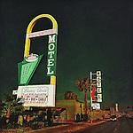 Vintage americana street signage for motel