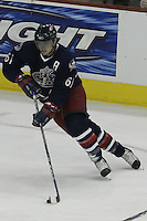 08 February 2006: Columbus Blue Jackets' Rick Nash plays against the Los Angeles Kings at Nationwide Arena in Columbus, Ohio.<br />