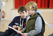 Weekly Drama group in the local Methodist Hall.  Run by the Yvonne Arnaud Theatre, Guildford.  The youngsters are asked to illustrate different things: robots, machines, three headed dragons etc.  It increases confidence and raises awareness.