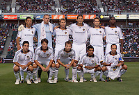 LA Galaxy Starting Eleven. The LA Galaxy defeated Chivas USA 1-0 at Home Depot Center stadium in Carson, California Saturday evening July 11, 2009.