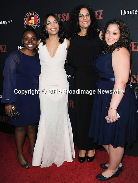 Pictured: Rosario Dawson, family<br /> Mandatory Credit &copy; Adhemar Sburlati/Broadimage<br /> Film Premiere of Cesar Chavez<br /> <br /> 3/20/14, Hollywood, California, United States of America<br /> <br /> Broadimage Newswire<br /> Los Angeles 1+  (310) 301-1027<br /> New York      1+  (646) 827-9134<br /> sales@broadimage.com<br /> http://www.broadimage.com
