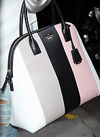 ***FILE PHOTO*** KATE SPADE FOUND DEAD IN PARK AVENUE APARTMENT<br /> NEW YORK, NY - OCTOBER 7: Close up of Gina Rodriguez' Kate Spade Purse at HuffPost Live promoting the new season of the CW TV series Jane the Virgin on October 7, 2015 in New York City. <br /> CAP/MPI/RW<br /> &copy;RW/MPI/Capital Pictures