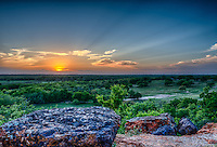 Scenic sunsets in Texas