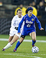 Duke University plays Wake Forest University in the NCAA Women's Final Four at Kennesaw State University.  Duke won 4-1.