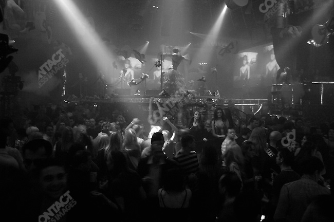 Revelers at Diagelev Project Night Club, considered Moscow most prestigious, November 17, 2007