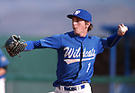 Western Nevada's Matt Young pitches against Arizona Western College in their home opener in Carson City, Nev. on Friday, Feb. 12, 2016. AWC won 9-5. <br /> Photo by Cathleen Allison/Nevada Photo Source