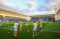 Leeds United players go through their warm ups<br /> <br /> Photographer Alex Dodd/CameraSport<br /> <br /> The EFL Sky Bet Championship - Preston North End v Leeds United -Tuesday 9th April 2019 - Deepdale Stadium - Preston<br /> <br /> World Copyright &copy; 2019 CameraSport. All rights reserved. 43 Linden Ave. Countesthorpe. Leicester. England. LE8 5PG - Tel: +44 (0) 116 277 4147 - admin@camerasport.com - www.camerasport.com