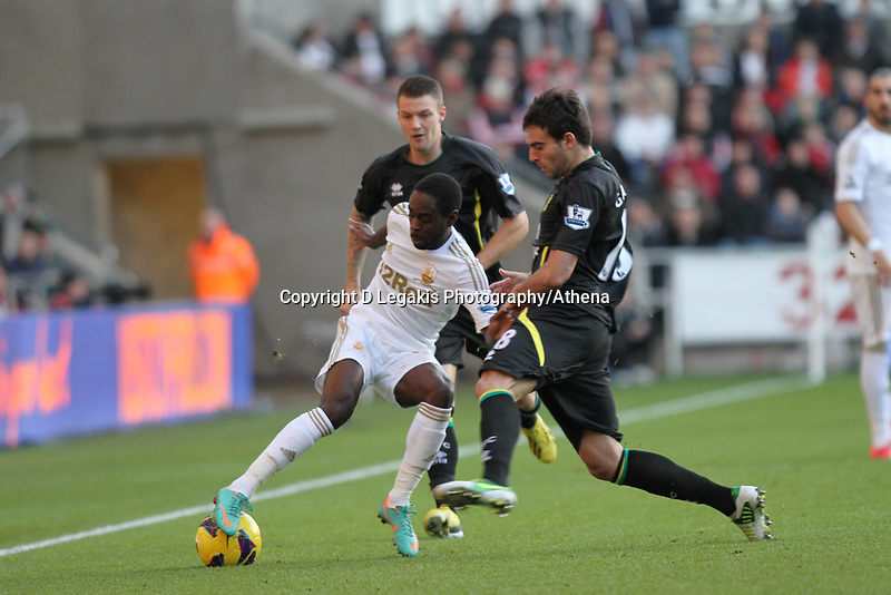 Barclays Premier League, Swansea City (White) V Norwich City (black) Liberty Stadium, Swansea, 08/12/12<br />