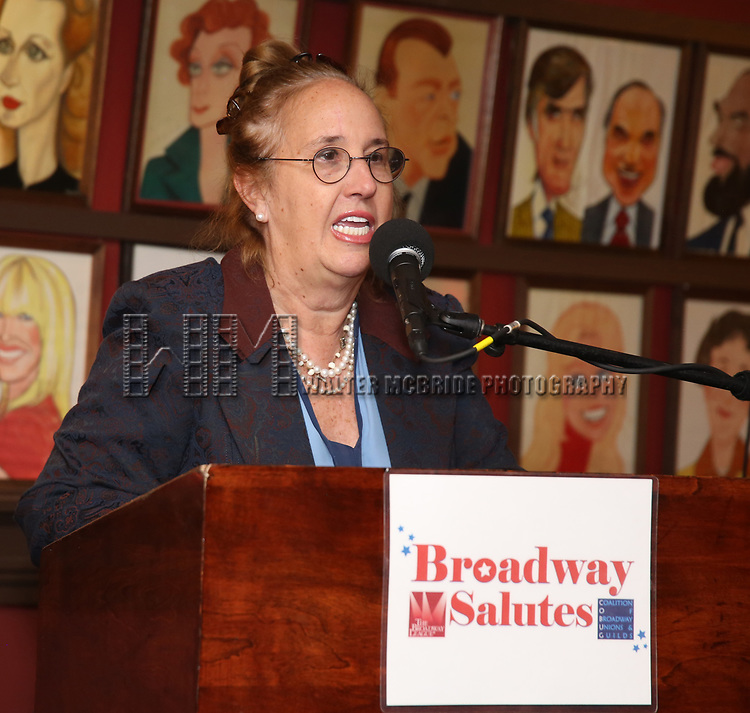 Gale Brewer attends Broadway Salutes 10 Years - 2009-2018 at Sardi's on November 13, 2018 in New York City.