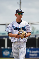 Tampa Tarpons second baseman Hoy Jun Park (1) before a game against the Clearwater Threshers on April 22, 2018 at George M. Steinbrenner Field in Tampa, Florida.  Tampa defeated Clearwater 2-1.  (Mike Janes/Four Seam Images)