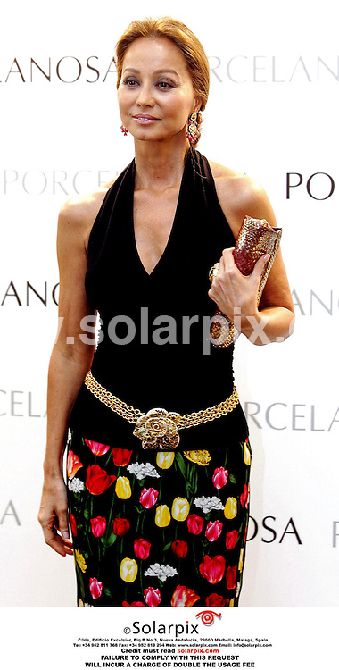 ALL ROUND PICTURES FROM SOLARPIX.COM.**MUST CREDIT SOLARPIX.COM OR DOUBLE FEE INCURRED**.The ex-wife of Julio Iglesias Isabel Preysler accompanied by the Russian tennis star Anna kournikova yesterday inaugurated the new Pocelanosa,at the new shopping complex 'Lhemeferec' in Valencia yesterday..DATE:28.04.06-SPA ..*NOT FOR SYNDICATION IN SPAIN**