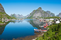 Scenic village of Reine, Lofoten islands, Norway