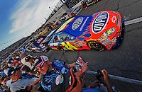 Jul. 5, 2008; Daytona Beach, FL, USA; Fans take pictures of the car of NASCAR Sprint Cup Series driver Jeff Gordon prior to the Coke Zero 400 at Daytona International Speedway. Mandatory Credit: Mark J. Rebilas-