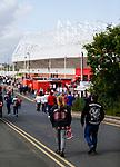 Sunderland fans walking to the ground. Sunderland 2 Portsmouth 1, 17/08/2019. Stadium of Light, League One. Photo by Paul Thompson.
