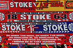 Stoke City and Arsenal scarfs for sale outside the stadium before the start of the premier league match at the Britannia Stadium, Stoke. Picture date 19th August 2017. Picture credit should read: Robin Parker/Sportimage
