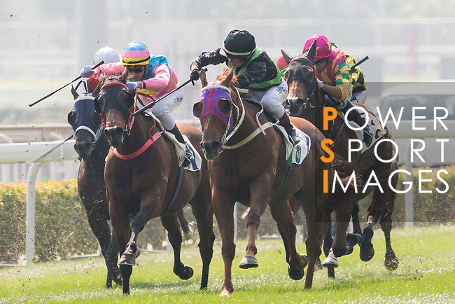 Jockey Dylan H T Mo riding Key Witness #2 competes in the Race 2, Able Friend Handicap, during the Longines Hong Kong International Races at Sha Tin Racecourse on December 10 2017, in Hong Kong, Hong Kong. Photo by Victor Fraile / Power Sport Images