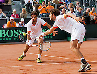 15-09-12, Netherlands, Amsterdam, Tennis, Daviscup Netherlands-Suisse, Doubles, Robin Haase/Jean-Julian Rojer
