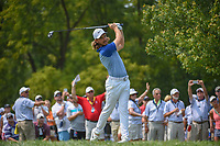 Tommy Fleetwood (ENG) watches his tee shot on 12 during 4th round of the 100th PGA Championship at Bellerive Country Club, St. Louis, Missouri. 8/12/2018.<br /> Picture: Golffile   Ken Murray<br /> <br /> All photo usage must carry mandatory copyright credit (© Golffile   Ken Murray)
