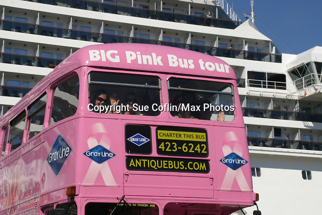 Big Pink Bus in Saint John, New Brunswick - Day 2 - August 1, 2010 - So Long Springfield at Sea - A day in port in Saint John, New Brunswick, Canada from the Carnival's Glory (Photos by Sue Coflin/Max Photos)