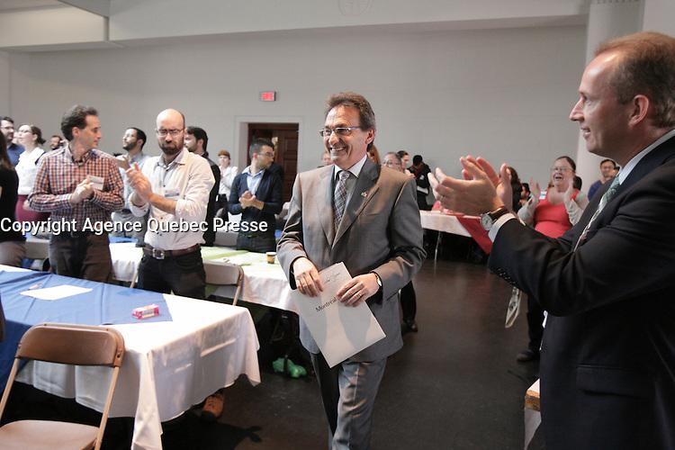 May 26, 2013 File Photo - <br /> Richard Bergeron, leader projet Montreal