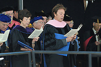 Carla Anderson Hills and Paul McCartney. Yale Commencement 2008 Procession and Ceremonies. Conferring of Honorary Doctor of Music Degree, Mus. D, to Sir Paul McCartney on Old Campus, Yale University, New Haven, CT.