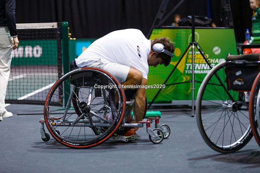 Rotterdam, The Netherlands, 12 Februari 2020, ABNAMRO World Tennis Tournament, Ahoy. Wheelchair: Martin De La Puente (ESP).<br /> Photo: www.tennisimages.com