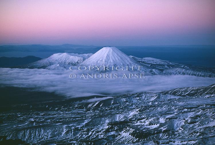 Mount Ngauruhoe. Tongariro National Park. New Zealand.