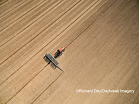 63801-10018 Farmer planting corn-aerial Marion Co. IL