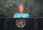 Her Excellency Marie Louise Coleiro Preca, President of the Republic of Malta  <br /> General Assembly Seventieth session 9th plenary meeting: High-level plenary meeting of the (6th meeting)