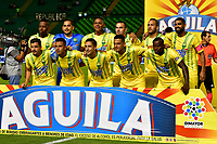 PALMIRA-COLOMBIA-26-01-2019: Jugadores de Atlético Bucaramanga, posan para una foto, durante partido de la fecha 1 entre Deportivo Cali y Atlético Bucaramanga, por la Liga Aguila I 2019, jugado en el estadio Deportivo Cali (Palmaseca) en la ciudad de Palmira. / Players of Atletico Bucaramanga, pose for a photo, during a match of the 1st date between Deportivo Cali and Atletico Bucaramanga, for the Liga Aguila I 2019, at the Deportivo Cali (Palmaseca) stadium in Palmira city. Photo: VizzorImage  / Nelson Ríos / Cont.