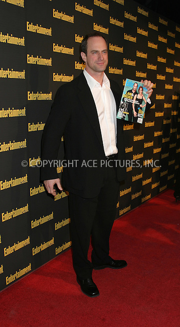 WWW.ACEPIXS.COM . . . . . ....NEW YORK, FEBRUARY 27, 2005....Chris Meloni at Entertainment Weekly's Academy Awards party at Elaine's.....Please byline: ACE009 - ACE PICTURES.. . . . . . ..Ace Pictures, Inc:  ..Philip Vaughan (646) 769-0430..e-mail: info@acepixs.com..web: http://www.acepixs.com