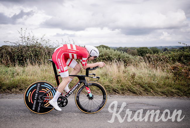 Kasper Asgreen (DEN/Deceuninck Quick Step)<br /> Elite Men Individual Time Trial<br /> from Northhallerton to Harrogate (54km)<br /> <br /> 2019 Road World Championships Yorkshire (GBR)<br /> <br /> ©kramon